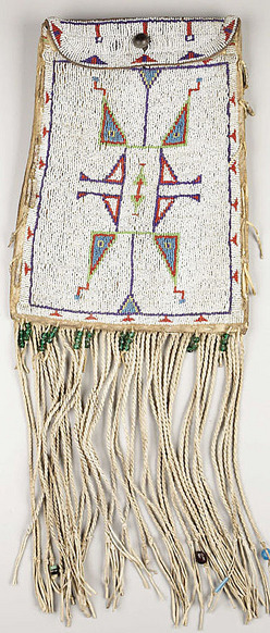 Arapaho Beadwork http://www.prices4antiques.com/Bag-Arapaho-Dispatch-Case-Beaded-Leather-21-inch-D9828095.htm