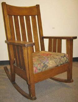 An Arts U0026 Crafts Oak Rocking Chair, Phoenix Chair Company; Image Credit On  Full Record.