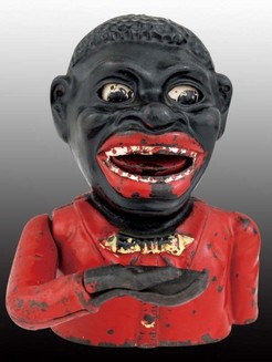Mechanical Bank John Harper Jolly Black Man Rolling Eyes
