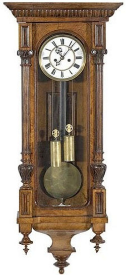 regulator clock gustav becker 8 day spring driven wall 48 inch. Black Bedroom Furniture Sets. Home Design Ideas