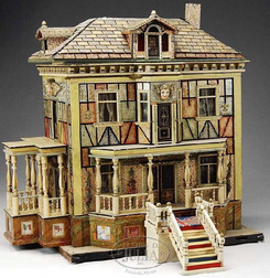 Dollhouse Hacker Christian Lithographed 2 Story
