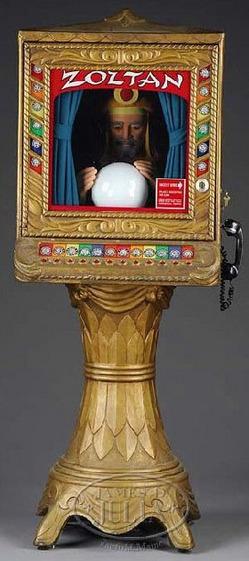 Arcade Zoltan Fortune Teller Swami Amp Crystal Ball