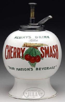 Soda Fountain Syrup Dispenser Cherry Smash 3 Cherries