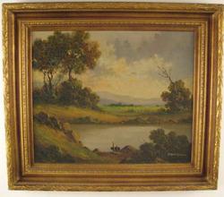 Bordignon Toni Oil On Canvas Painting Signed Landscape