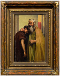 Hensel Gustav Adolph Oil On Canvas Painting Attributed