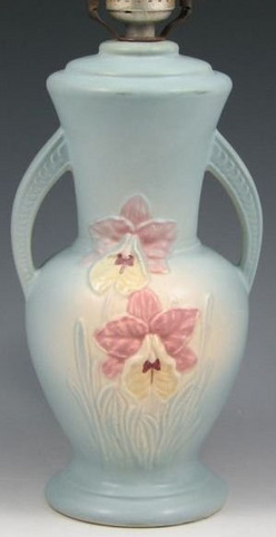 Table Lamp Hull Pottery Orchid Pink Amp Blue 19 Inch