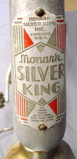 Bicycle Monark Silver King Female Frame 1938