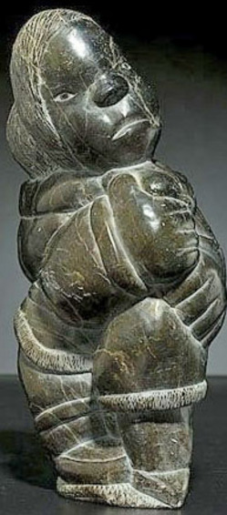 Carving inuit inukpuk johnny jr soapstone mother