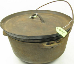 Kettle Griswold Dutch Oven Cast Iron Tite Top Grill