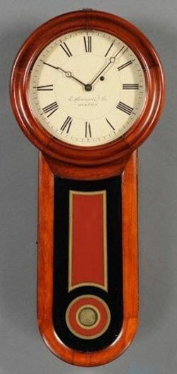 Regulator Clock Howard E No 11 Keyhole Cherry 31 Inch