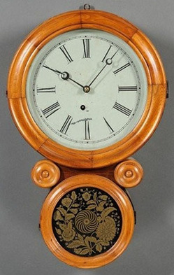 Wall Clock; Ingraham (E), Ionic, Circular Case with ...