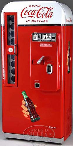 vendo coke machine value