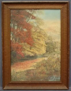 Nutting Wallace Print Autumn Riverscape