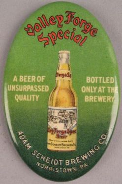 Pocket Mirror Valley Forge Special Beer Bottle On Green