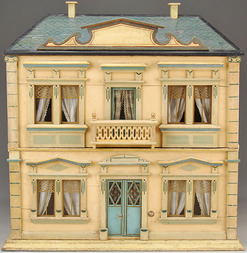 Dollhouse hacker christian painted 4 rooms corner for Two story elevator cost