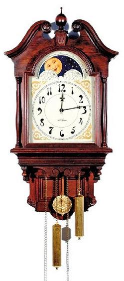 Wall clock seth thomas lunar mahogany 36 inch for Seth thomas wall clocks value
