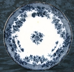 Flow Blue Royal Staffordshire Carlton Plate 9 Inch