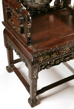 Furniture Chair Arm Chinese Hardwood Mother Of Pearl