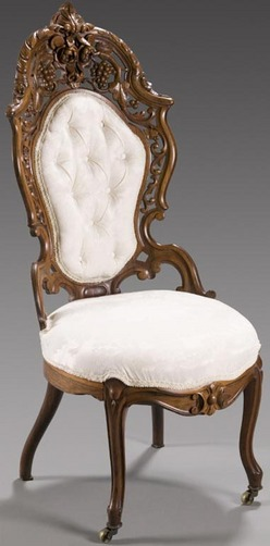 Furniture Chair Side Victorian Rococo Revival Meeks J