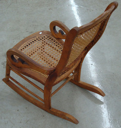 A Victorian Childu0027s Rocking Chair With A Caned Seat And Back; Image Credit  On Full Record.