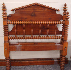 Furniture Bed Softwood Jenny Lind Peaked Headboard Spool
