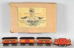 Train Set American Flyer Pre War O Gauge No 3110 Locomotive Passenger 1
