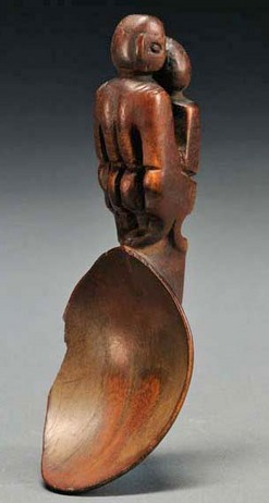 Carving Philippines Wood Spoon Ifugao Figural Couple