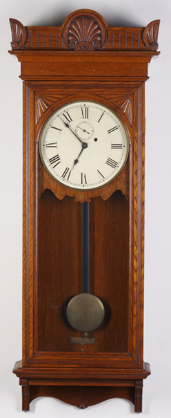 regulator clock seth thomas no 9 oak 48 inch. Black Bedroom Furniture Sets. Home Design Ideas