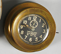 Chelsea US Navy Clock http://www.prices4antiques.com/Ships-Clock-Chelsea-US-Navy-Mark-I-Deck-Clock-Brass-6-inch-D9756837.htm