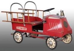 Pedal Car Steelcraft City Fire Department Ladder Truck
