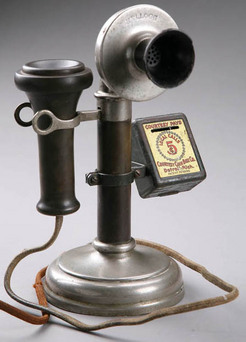 Telephone Candlestick Kellogg Courtesy Coin Box 10 Inch