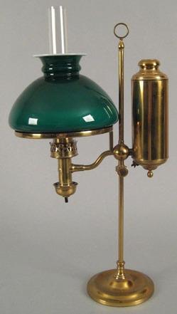 Student Lamp American German Student Lamp Co Brass