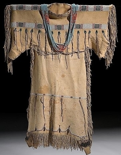 Clothing Cheyenne Dress Girl Beaded Hide 40 Inch