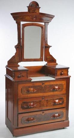 Furniture Dresser Victorian Cottage Style Walnut