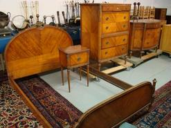 furniture, America, Furniture: A circa 1920s Art Deco bedroom set with