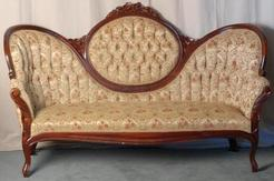 Awesome Furniture Sofa Victorian Rococo Revival Mahogany Medallion Back
