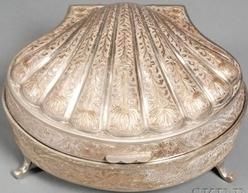 Music Box Zimbalist Fred Seashell Case Nickel 8 inch