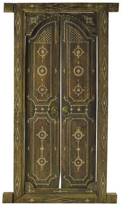 Carved wood entryway with mother of pearl inlay from Lombok Island Indonesia; image credit on full record. & Entryway; Indonesian Doors (2) Frame Carved Wood Mother of ...