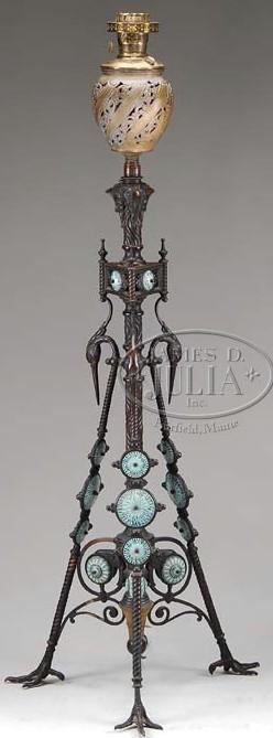 floor lamp hollings co aesthetic movement bronze tiles turkey. Black Bedroom Furniture Sets. Home Design Ideas