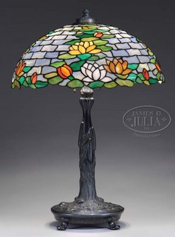 wilkinson water lily shade table lamp beginning with a fully leaded. Black Bedroom Furniture Sets. Home Design Ideas