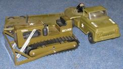 Toy Truck Tonka Army Lowboy Truck Amp Trailer Giant Bulldozer