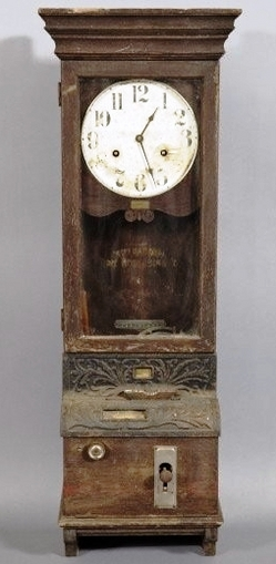 Time Recorder Clock International Time Recording Co Oak Punch