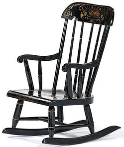 A Childu0027s Windsor Style Rocking Chair With A Stenciled Decoration, Made By  Nichols U0026 Stone Co., American, 20th Century; Image Credit On Full Record.