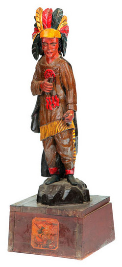 Cigar Store Figure Indian Chief Carved Amp Painted