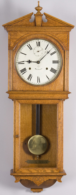 Wall clock seth thomas umbria 15 day oak 42 inch for Seth thomas wall clocks value