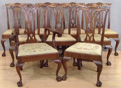 Attrayant Eight Chippendale Style Chairs By Potthast Brothers, Circa 1900; Image  Credit On Full Record.