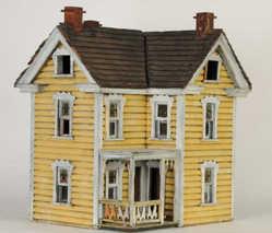 Dollhouse Pennsylvania Wood Homemade 6 Rooms