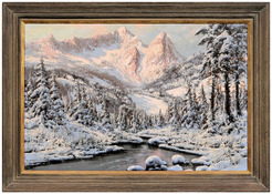 Neogrady Laszlo Oil On Canvas Painting Signed Winter