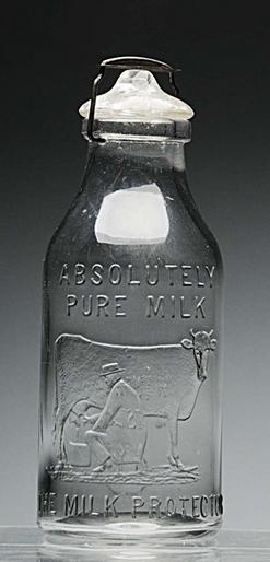 Milk Bottle Thatcher Glass Co The Milk Protector