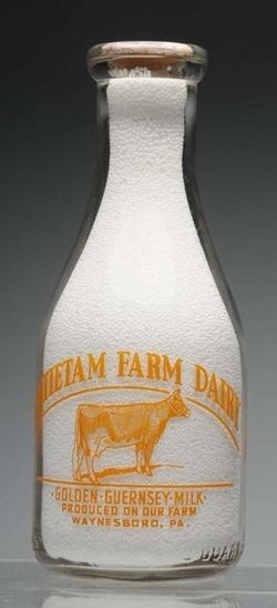 Milk Bottle Antietam Farm Dairy Waynesboro Pa